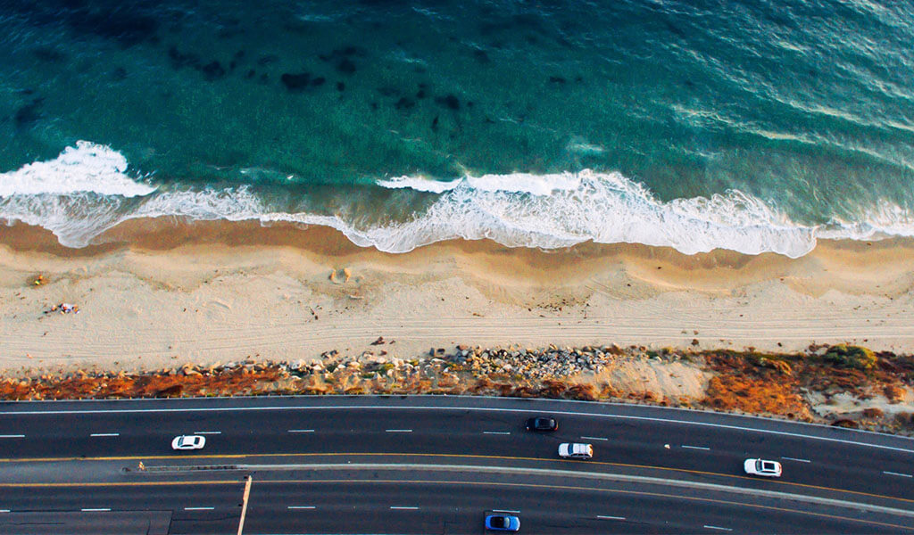 The Start of the Pacific Coast Highway